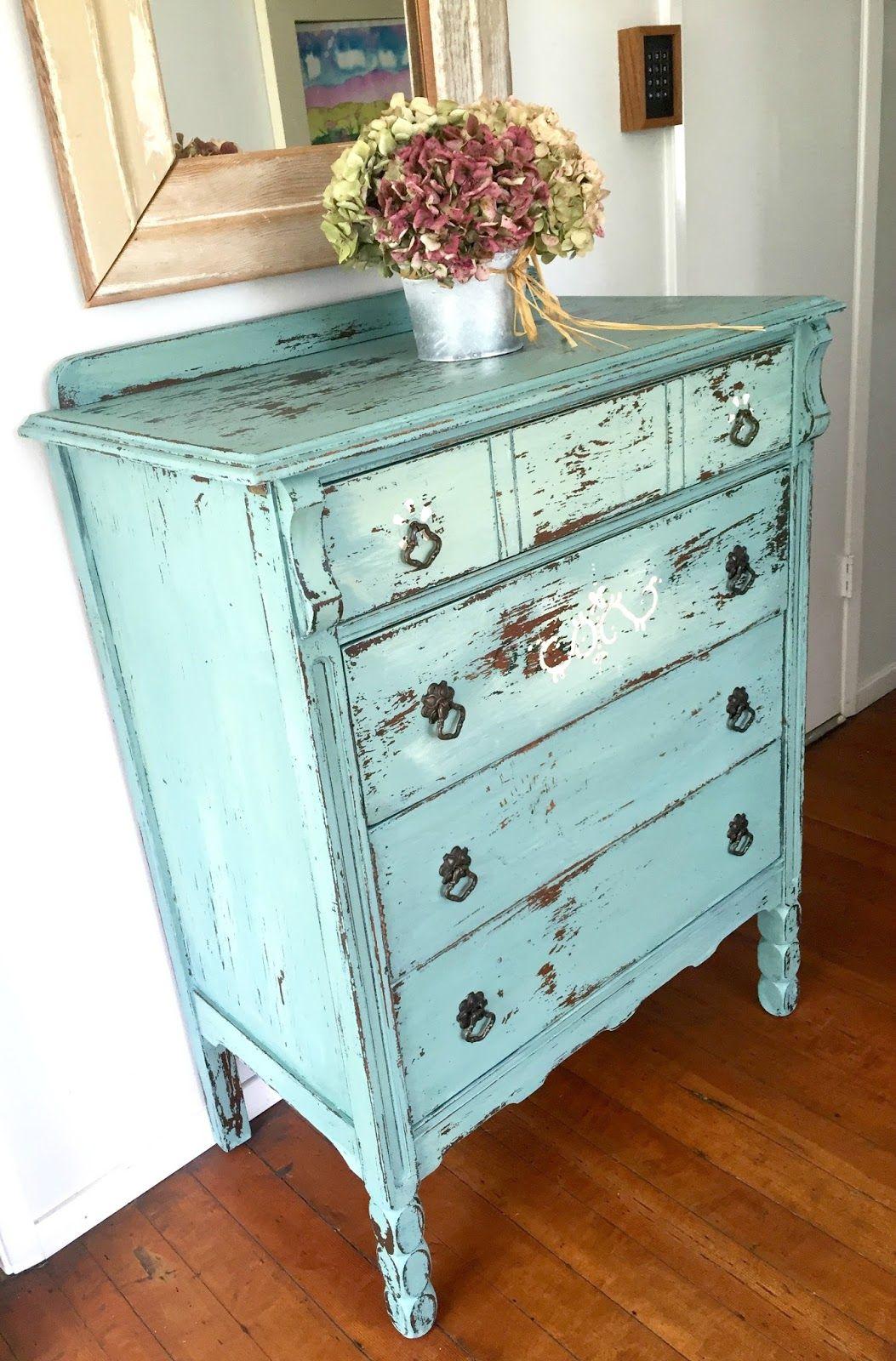 D S Cottage And Design Chippy Milk Painted Dresser