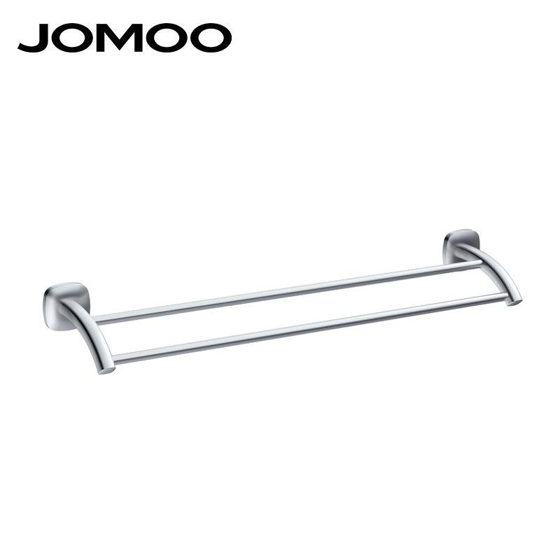 JOMOO Aluminum Material Single Double Towel Bar Wall Mounted Towel ...