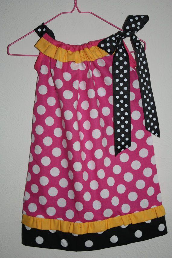 Girls Disney Pillowcase Dress - Minnie Mouse Inspired on Etsy, $24.00