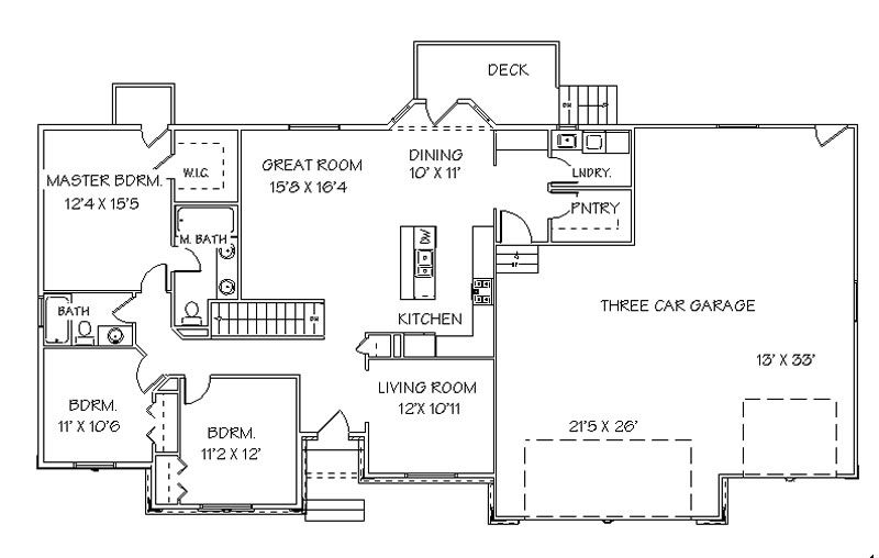 House Plans With Bedrooms In The Basement Main Floor Plan Basement House Plans Ranch House Floor Plans House Floor Plans