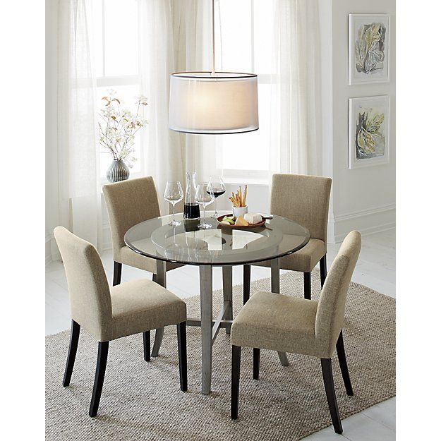 Make A Statement With Chandeliers And Pendant Lighting From Crate And Barrel Browse A Variety With Images Round Dining Room Sets Grey Round Dining Table Round Dining Room