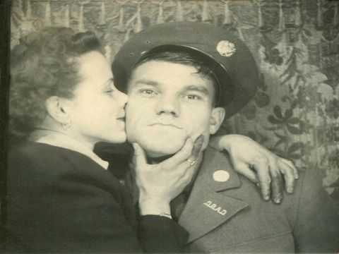 People love getting cozy in photo booths with their special someone. Check out these amazing vintage photos of couples in booths across the years from JFK and Jackie to Elvis Presley!