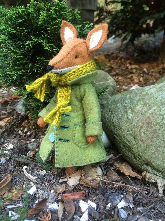Fox coat PDF pattern, felt coat pattern, miniature clothing, doll ...