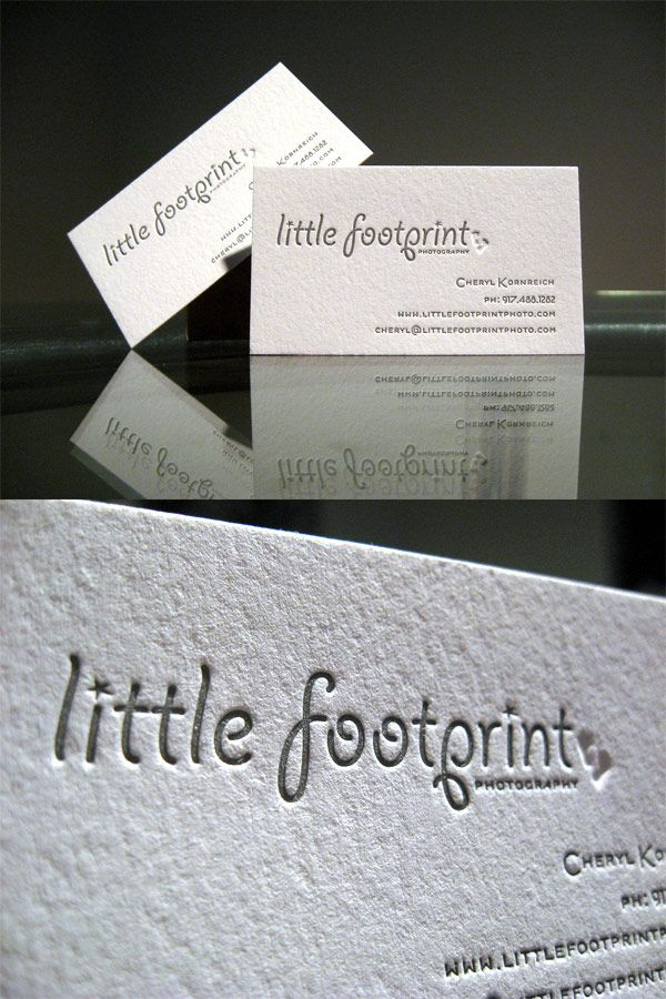 Little Footprints Photography\'s LetterPress Typography Business Card ...