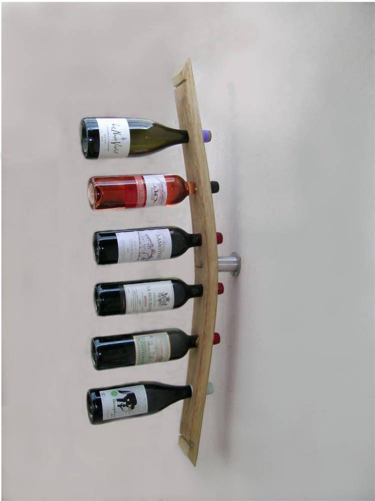 Porte bouteilles en chêne finition naturelle 8x5x9