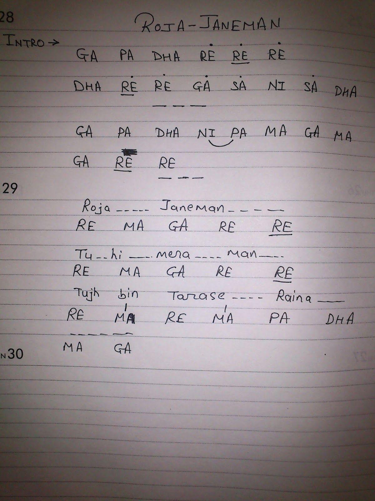 Beginner Tamil Songs Keyboard Notes Pdf - Free Wallpapers