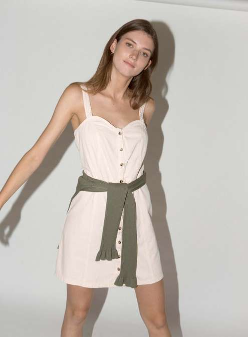 9d69b9df3d06 Peach Pinafore Dress | Lust list