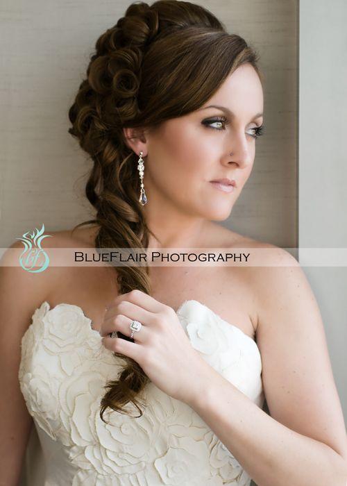 gorgeous bridal wedding hair