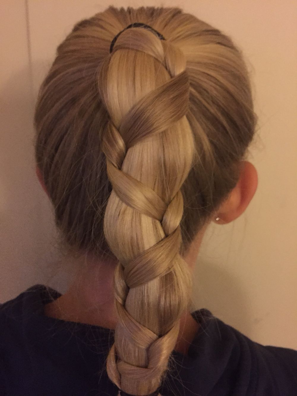 Braid in a ponytail hair pinterest ponytail