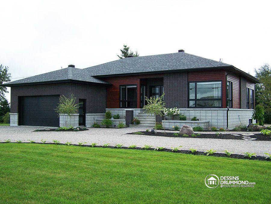 Contemporary house plan   plan de maison contemporain #modern - plan de maison design