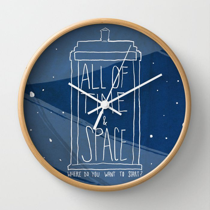 Awesome. :: All Of Time And Space Doctor Who Wall Clock by Nan Lawson