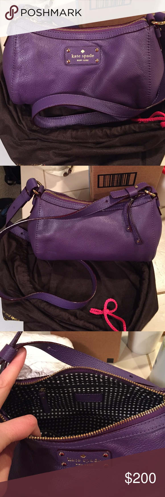 Kate Spade Purse. Never been used. Received as a gift but have no use for. Never been used still in original cloth bag kate spade Bags Crossbody Bags