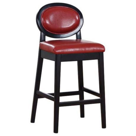"Martini Series Red Stationary 26"" High Counter Stool -"
