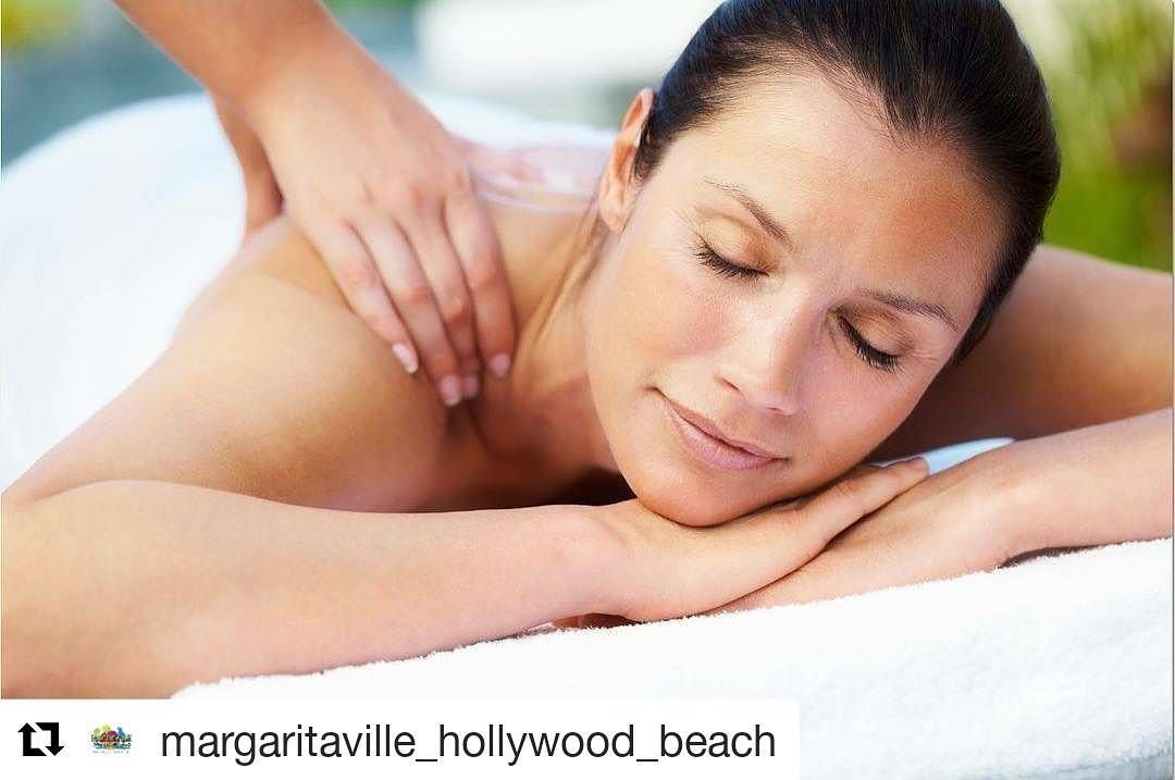 Credit To Margaritaville Hollywood Beach Experience A Feeling Of Calm And Relaxation Using Warm H Skin Tightening Treatments Shoulder Massage Massage Therapy