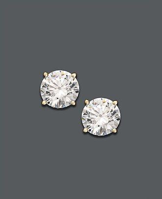 Diamond Earrings 14k Gold Stud Diamonds Jewelry Watches Macy S My Macysfavoritethings