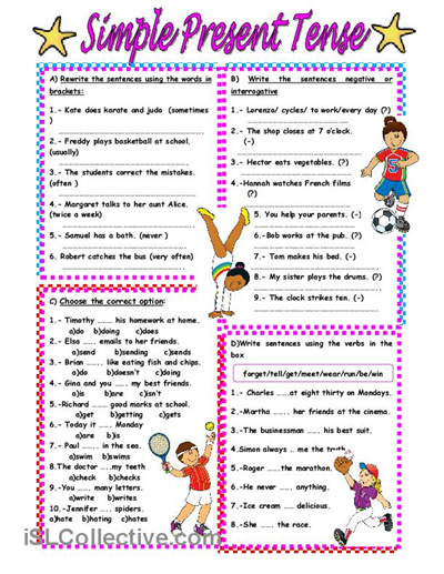 Simple Present Tense Worksheet Free Esl Printable Worksheets Made