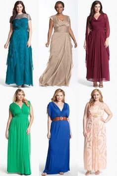 Plus Size Maxi Dresses for Wedding Reception