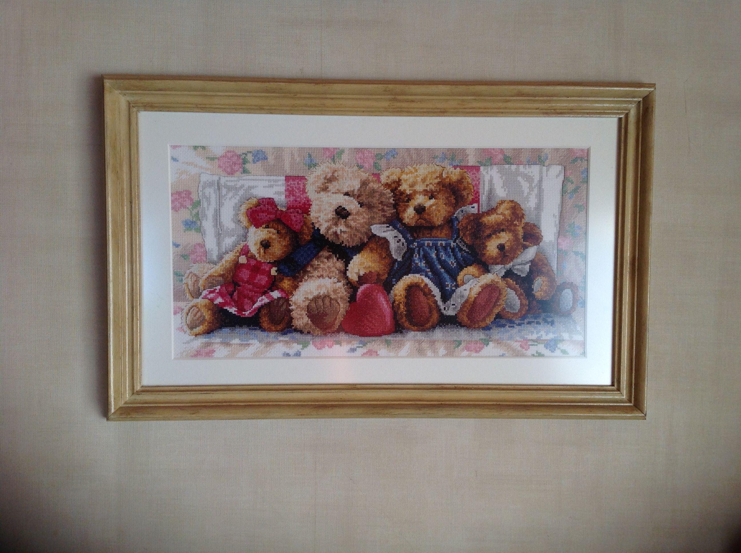 Knuffelberen, geborduurd