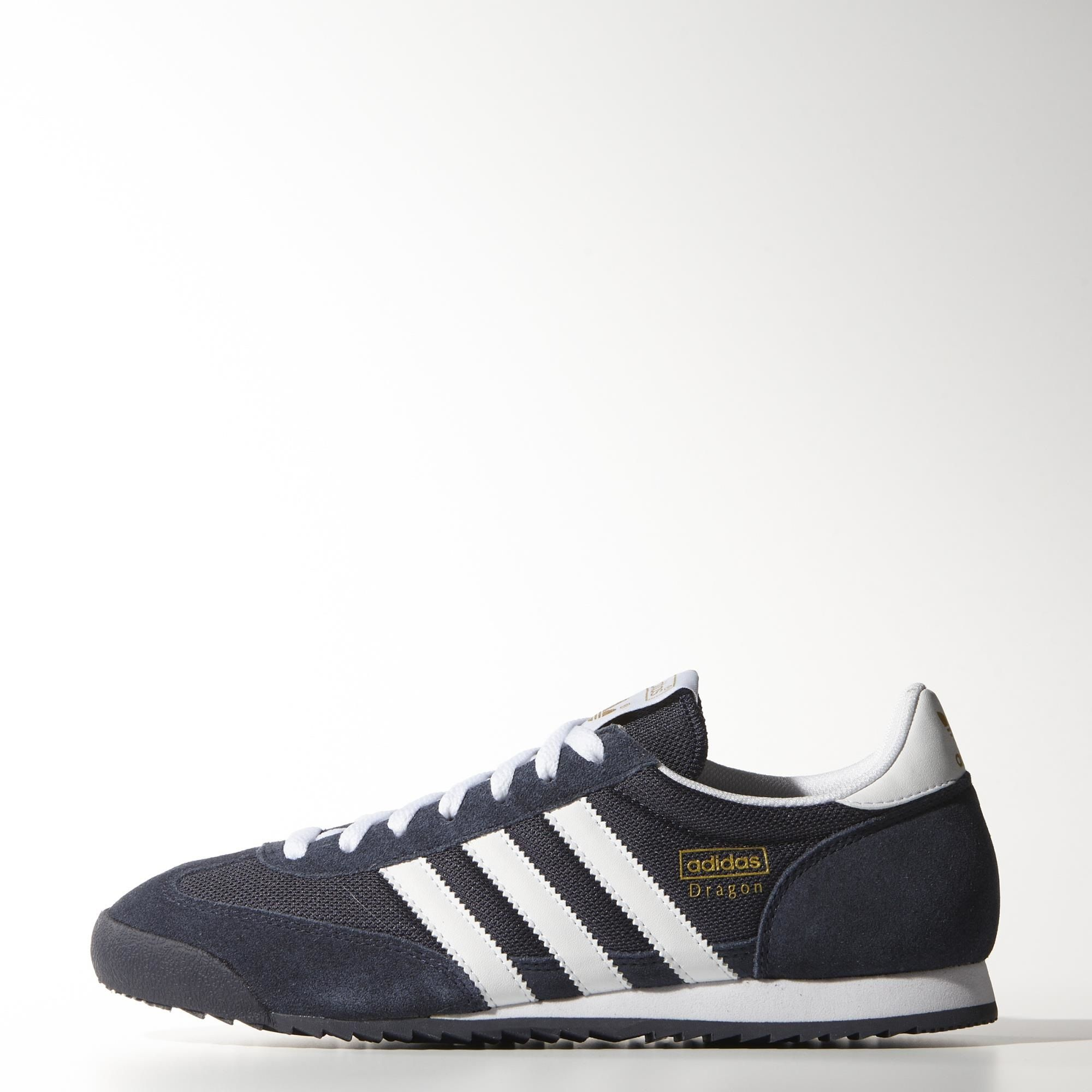 adidas dragon trainers black mono gold metallic