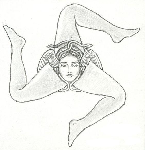 Trinacria Symbol Sicilian <b>symbol</b> three legs  <b>trinacria symbol symbol</b> of ...