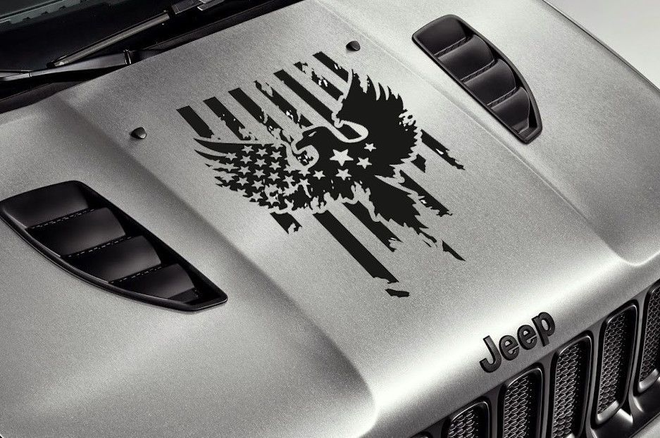 Details About Jeep Car Truck Suv Hood Eagle Army Stars Stripes Usa Flag Vinyl Sticker Decal Jeep Decals Jeep Stickers Jeep Hood Decals