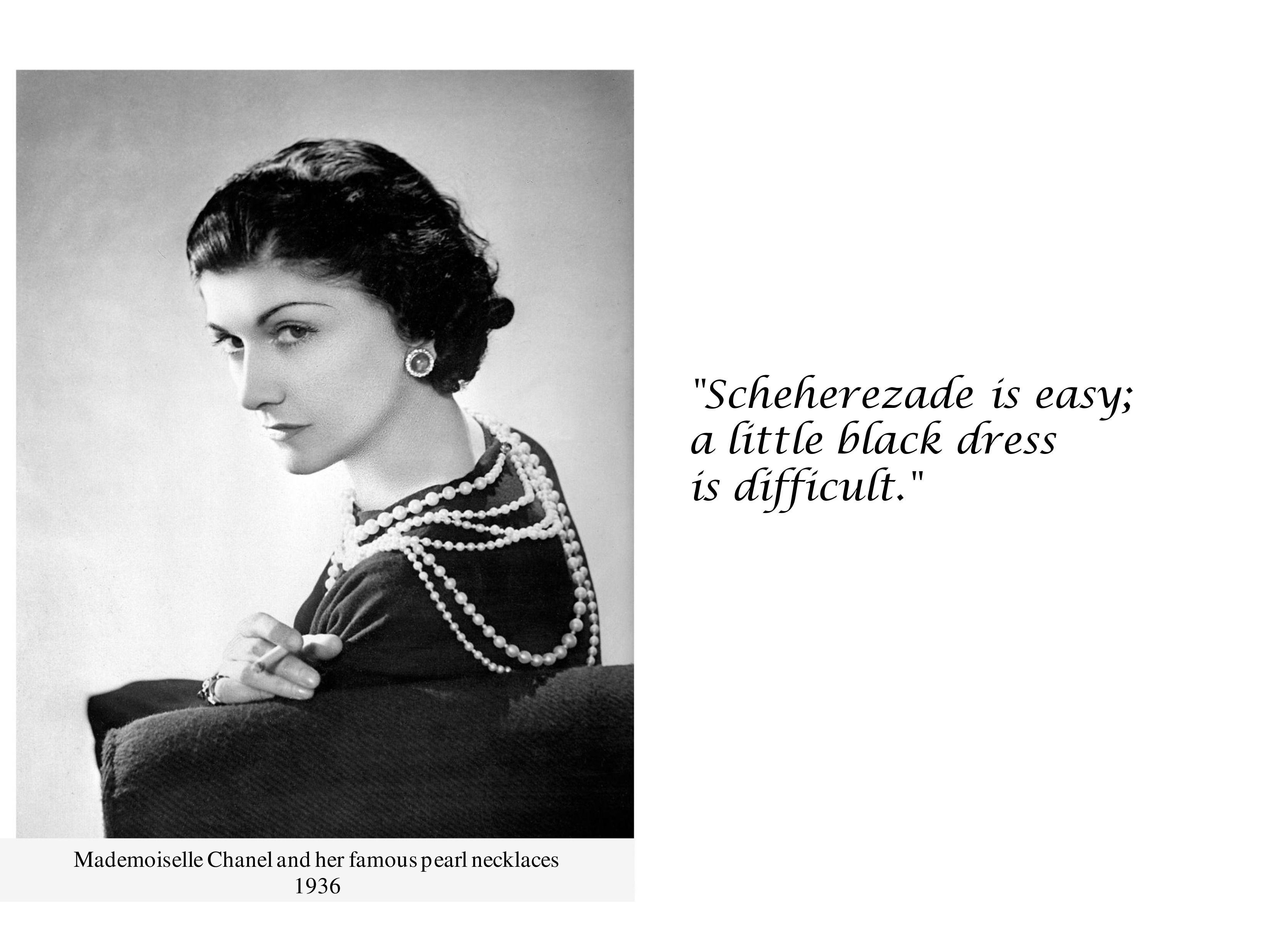 Scheherezade Is Easy A Little Black Dress Is Difficult Little Black Dress Black Dress Coco Chanel Quotes [ 2481 x 3306 Pixel ]