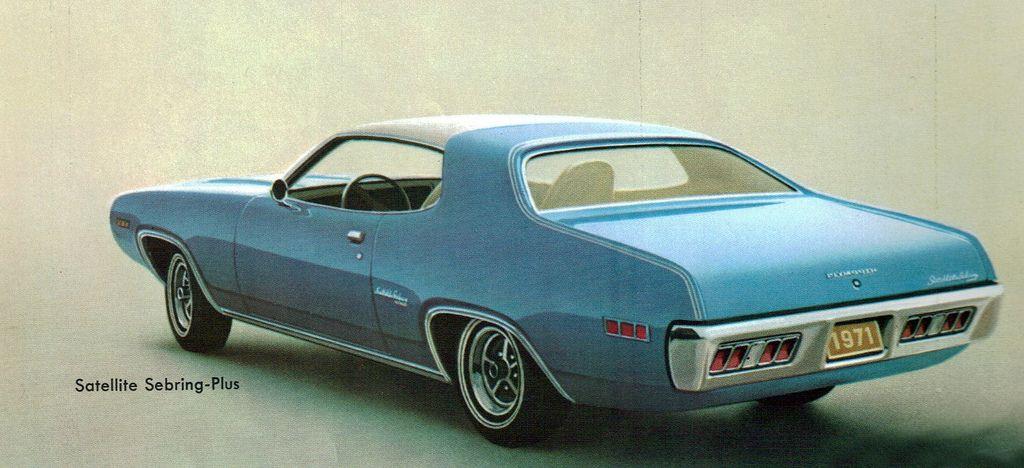 1971 Plymouth Satellite Sebring Plus 2 Door Hardtop Plymouth Satellite Plymouth Sebring