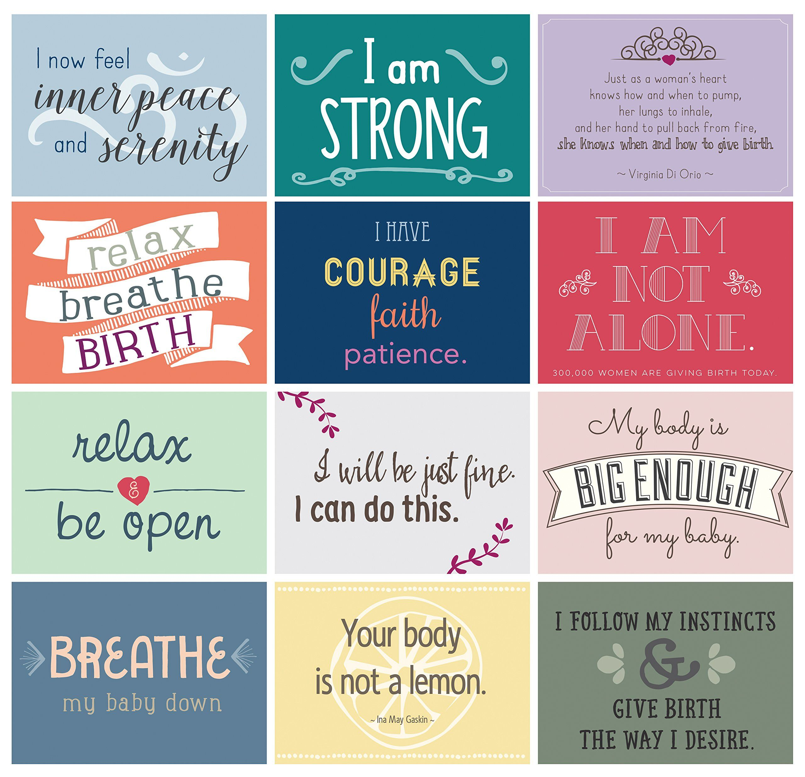 Gift Baby Showers Hypnobirthing Positive Birth Affirmation Cards Pregnancy