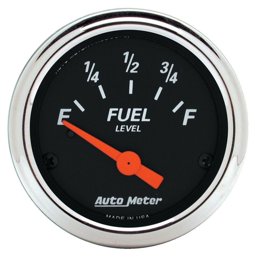 Sponsored Ebay Autometer 1422 Designer Black Fuel Level Gauge