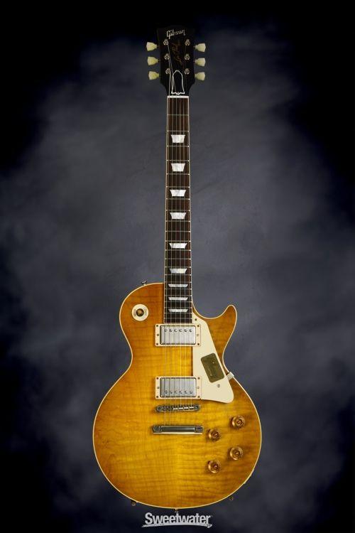 Gibson Custom CS9 50's Style Les Paul Standard VOS - Lemon Burst | Sweetwater.com