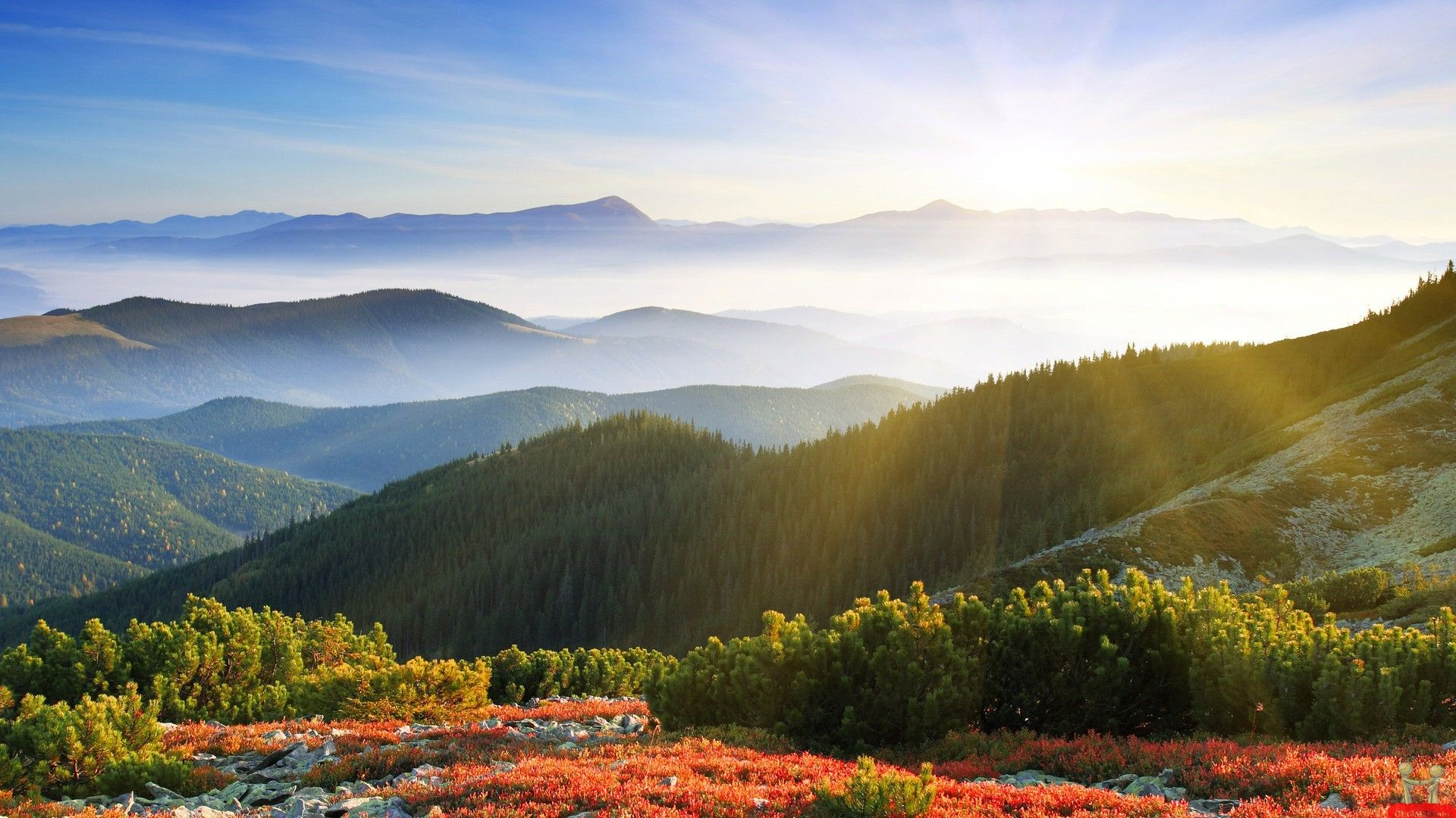 Smokey Mountain Beautiful Hd Wallpapers Jpg 1920 1080 Landscape Pictures Sunrise Wallpaper Mountain Pictures