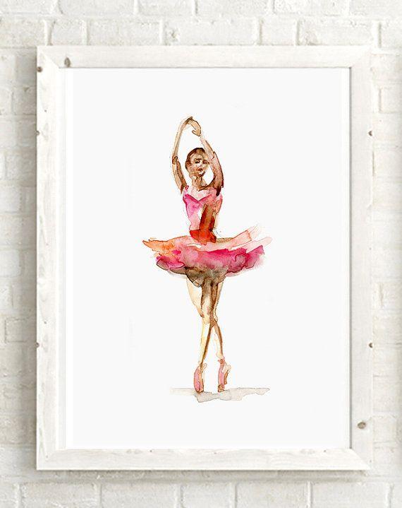 Ballet Dancer Watercolor Painting Giclee Art Print Ballerina Etsy Art Prints Giclee Art Print Watercolor Paintings