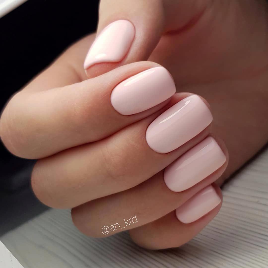 Blush Pink on short nails