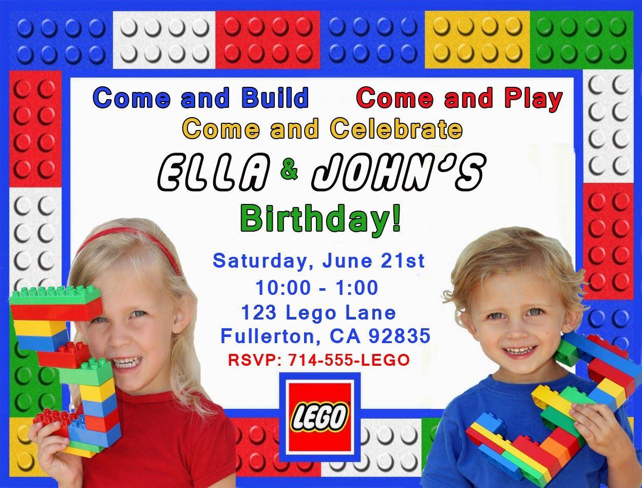 Invite and Delight Lego Birthday Party recipes Pinterest Lego