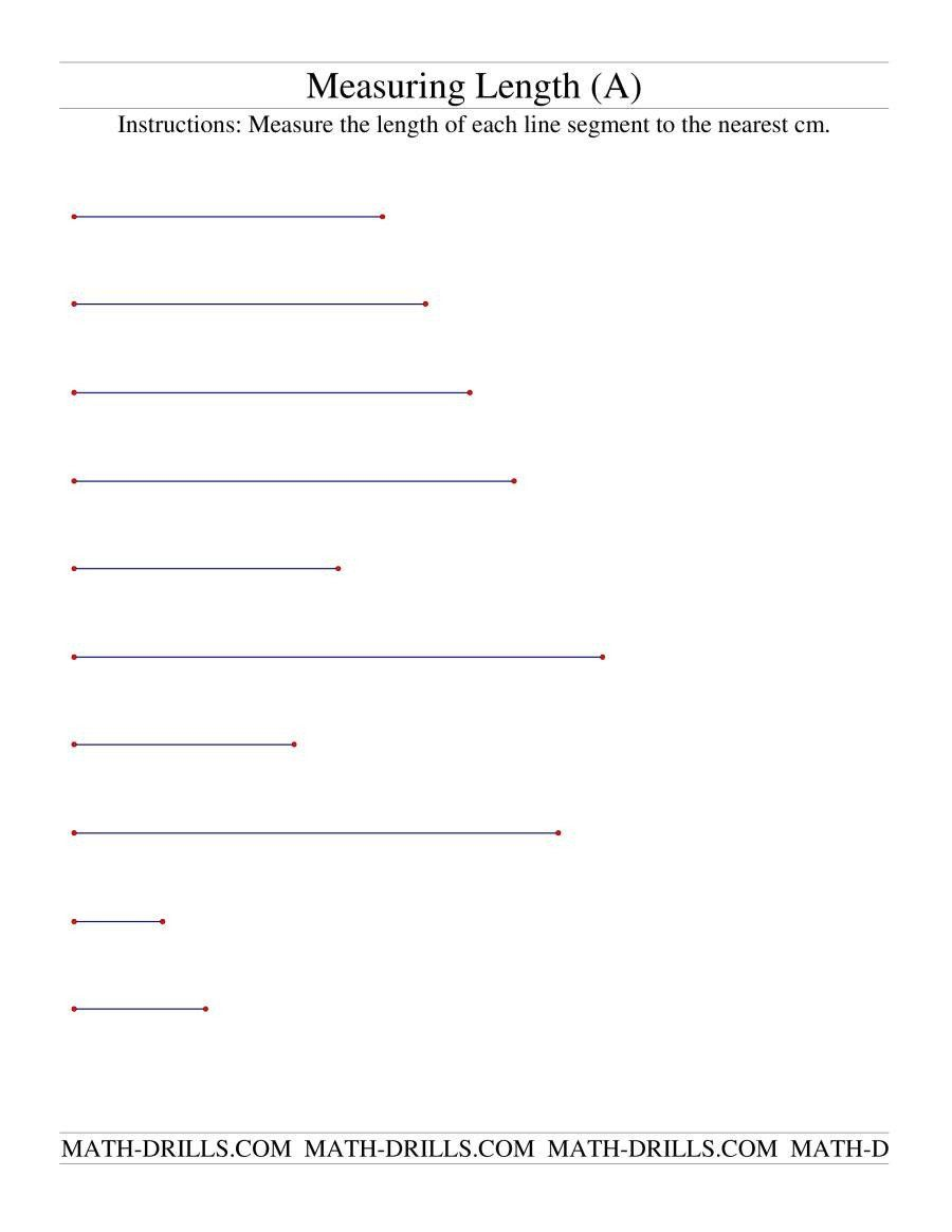 Measuring Line Segments Worksheet Measuring Length Of Line Segments In Cm A Measurement Worksheets Measuring Length Segmentation [ 1165 x 900 Pixel ]
