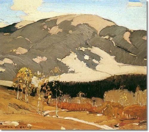 Victor Higgins -- Western Landscape 1920 11x14 Painting