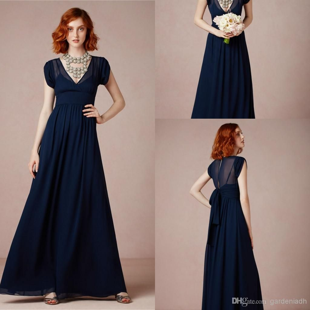 Wholesale cheap new arrival summer navy blue long chiffon