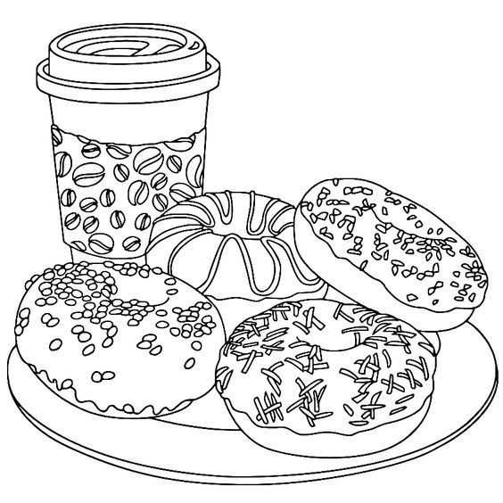 Pin By Ashley Zerr On Pink Cute Coloring Pages Food Coloring Pages Coloring Books