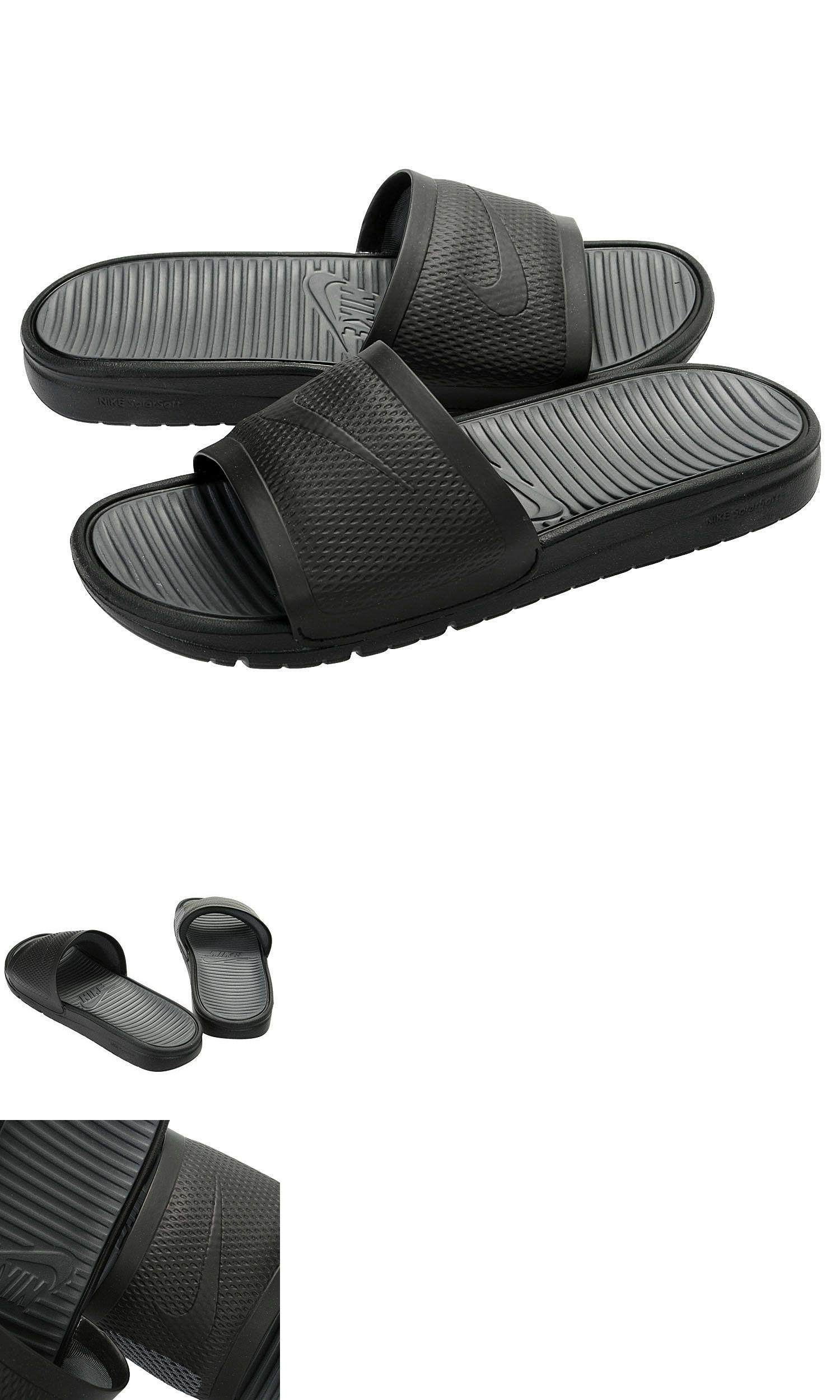 8a1bf7ac7 Sandals and Flip Flops 11504: Nike Benassi Solarsoft Slide Black Black-Dark  Grey 431884 001 Mens Free Shipping -> BUY IT NOW ONLY: $36.35 on eBay!