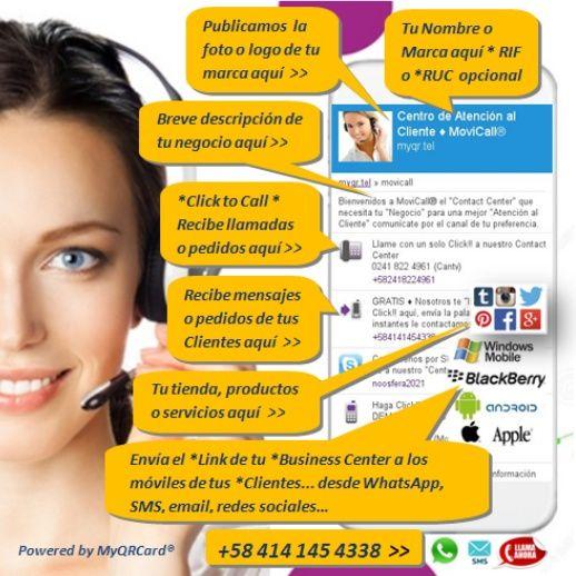 Comunica y Promociona tu *Marca en un Click!! llega cada día a mas *Clientes INFO: > http://movicall.myqr.tel