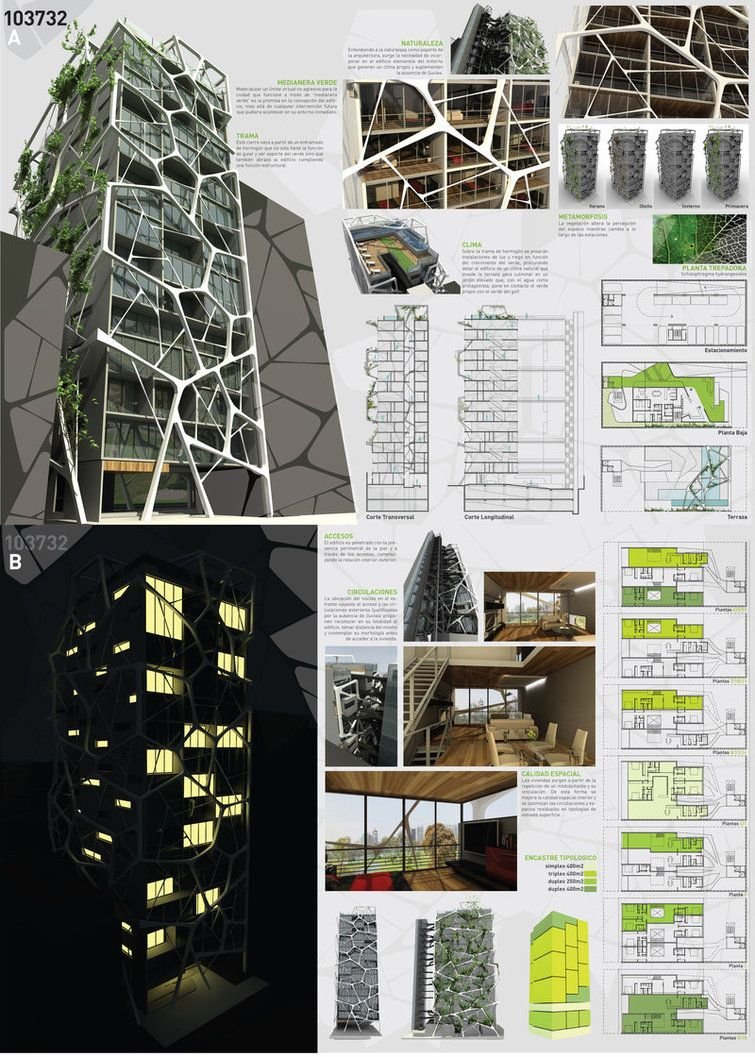 Poster design for architecture - Architectural Drawings Presentation Posters