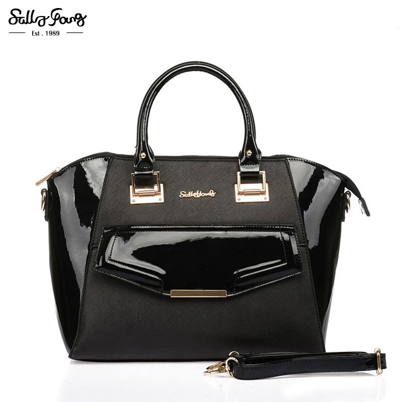 Sally Young International Brand Trapeze Fashion Women Patchwork Bag Metal  Buckle Lady Shoulder Vintage Handbags 4