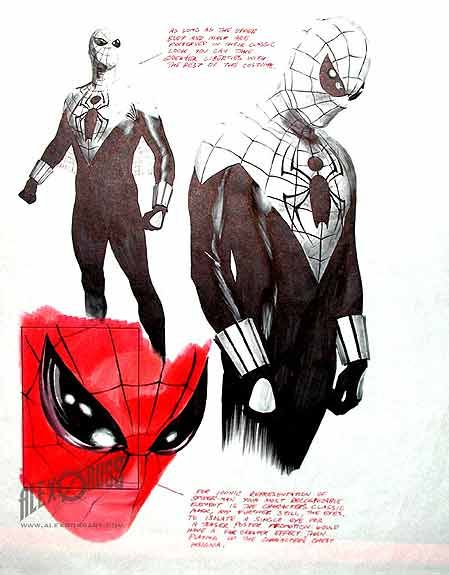 Alex Ross Art Spiderman Spiderman Sketch 413 | Comic Booking | Pinterest | Spiderman Spiderman ...