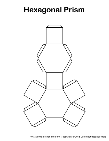 Hexagonal Prism Template
