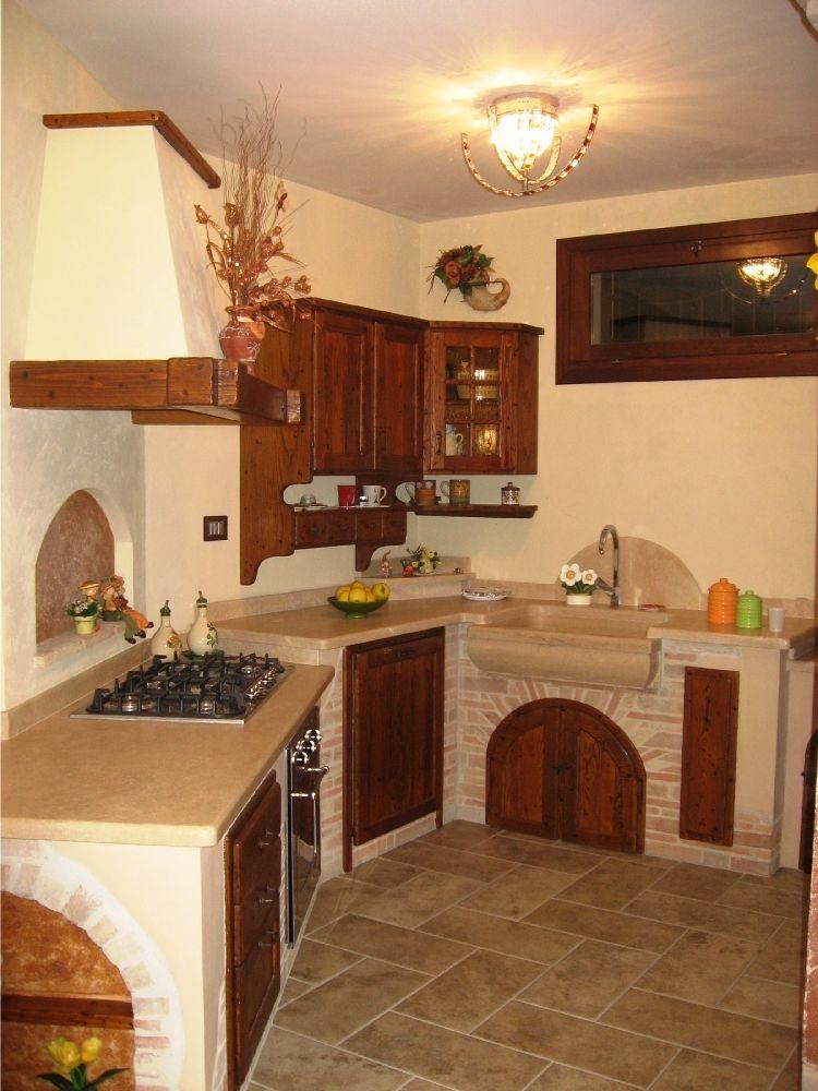 Cucine in muratura e legno di castagno | cucina in muratura ...