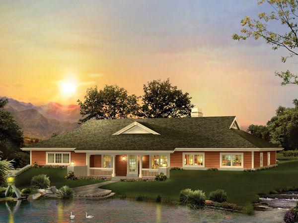 Greensaver Atrium Berm Home Ranch Style House Plans Ranch Style Homes Ranch House Plan