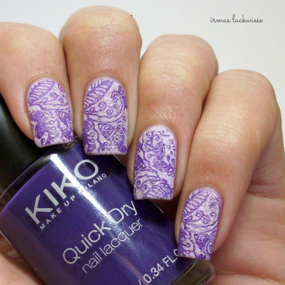 Nail art color violet - P2 Crisp Color Violet Glace Stamping With Moyou