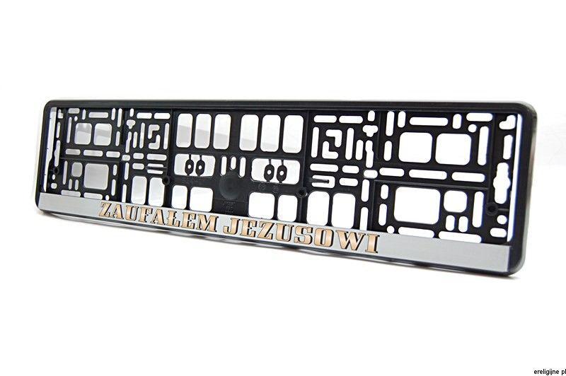 Chrzescijanska Ramka Do Tablic Rejestracyjnych Zaufalem Jezusowi Tech Company Logos Company Logo Light Box