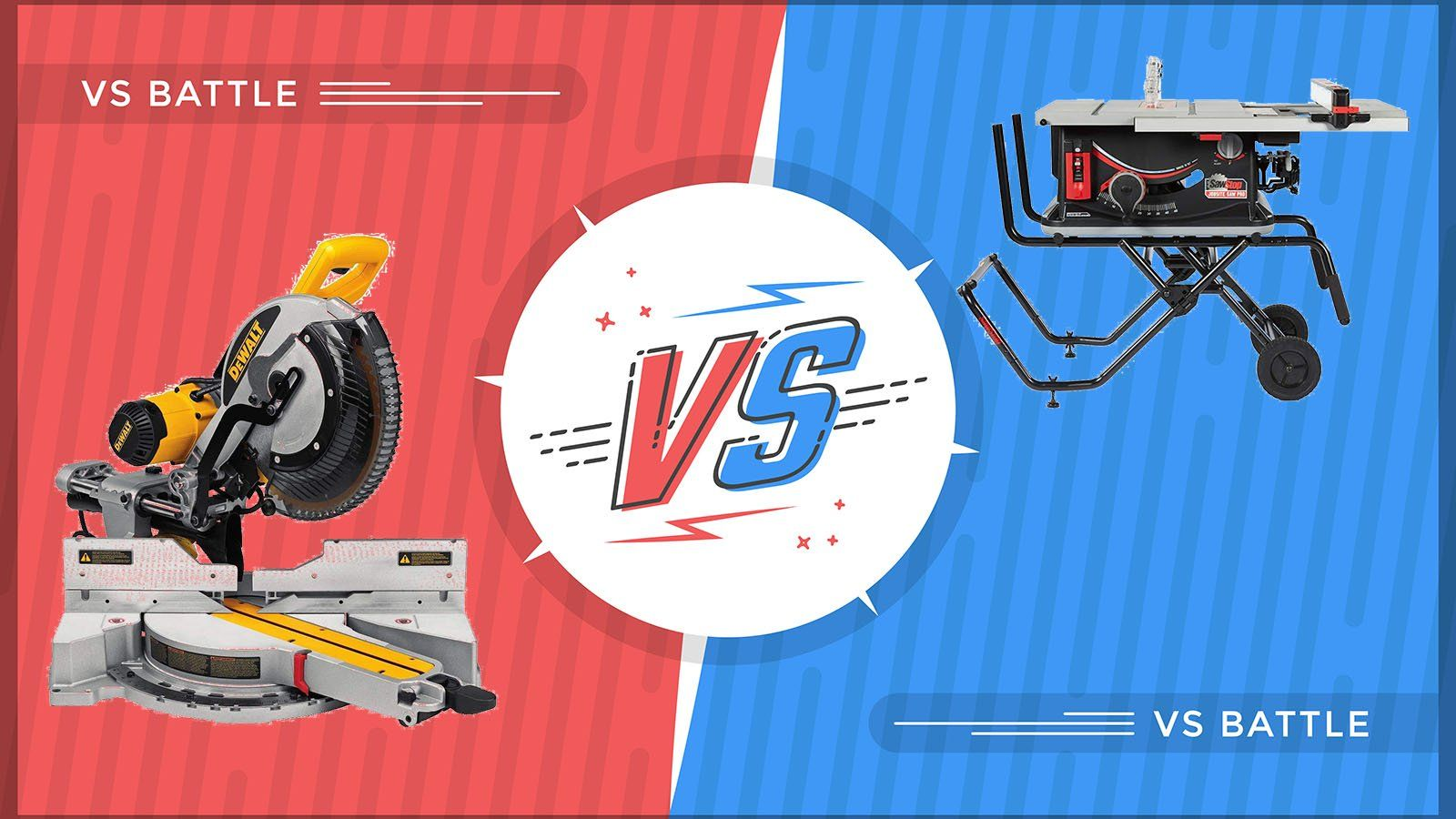 Table Saws Versus Miter Saws Which Should You Get Miter Saws Table Saws Used Table Saw