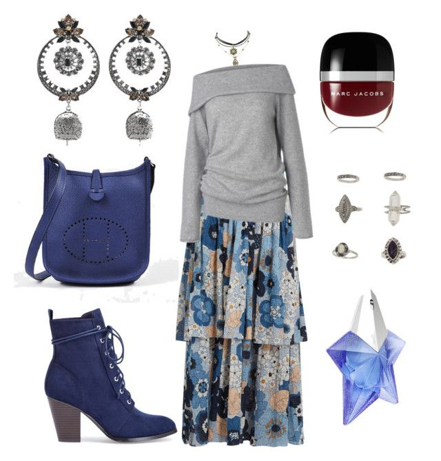 """""""boho date night"""" by cozykittycat on Polyvore featuring Chloé, Hermès, Alexander McQueen, Care By Me, Miss Selfridge, Marc Jacobs and Thierry Mugler"""